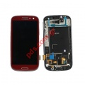 Original LCD Display with Touch Unit Digitazer Samsung GT I9300 Galaxy S III Complete Garnet Red