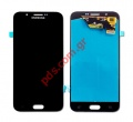 Οθόνη set LCD Samsung A800F Galaxy A8 Black σε μαύρο χρώμα (NOT FOR EUROPE)