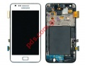 Σετ οθόνης με τζάμι (OEM) και αφή Samsung i9100 Galaxy S2 White (Display+Gorilla display glass+ digitazer touch screen)