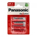 Μπαταρία Panasonic ZINC Carbon AA LR6 size AA 1.5 V Battery Pack απο 4pcs Blister
