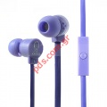 Ακουστικά στέρεο KEEKA Noodle shaped 3.5mm Purple σε μωβ χρώμα (In-Ear with Mic for iPhone etc)