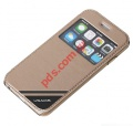 Θήκη Flip Book S-View USAMS iPHONE 6 4.7 Gold Viva (BLISTER)