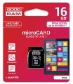 Memory card GOODRAM 16GB Class 10 microSDHC (Trans Flash) Blister.