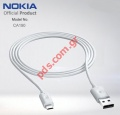 Γνήσιο καλώδιο Nokia CA-190CD Micro USB Data Cable White (Bulk)