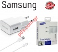 Original charger white MicroUSB Samsung ETA-U90EWEG 2A (BLISTER) With data cable ECB-DU4EWE