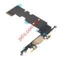 Ταινία Flex Cable (OEM) Gold iPhone 8 Plus Charging port σε χρυσό χρώμα