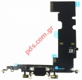Ταινία Flex Cable (OEM) Grey iPhone 8 Plus Charging port σε γκρί χρώμα Black