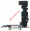 Ταινία Flex Cable (OEM) White iPhone 8 Plus Charging port σε λευκό χρώμα