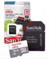 Κάρτα μνήμης Sandisk Ultra MicroSDHC 16GB 80MB/s Class 10 UHS-I with Adapter Blister