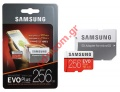 Κάρτα μνήμης microSDXC 256GB Samsung EVO Plus Class 10 100MB/s 90MB/s with Adapter (EU Blister)