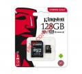 Κάρτα μνήμης Kingston 128GB UHS-I CL10 microSDHC Canvas Select 80Read + SD Adapter Blister με συσκευασία