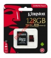 Κάρτα μνήμης Kingston 128GB C10 UHS-I U3 100mbs V30 4K ULTRA HD Canvas Select microSDXC w/SD Adapter Blister