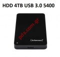 Εξωτερικός σκληρός δίσκος HDD Intenso 4TB USB 3.0 2.5inch RPM5400 Cache 8GB  Memory Case Black BOX