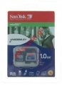 Κάρτα μνήμης Mini secure digital 1GB SANDISK με BLister adaptor