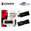 Μνήμη αποθήκευσης Kingston 16GB USB 3.0 100 G3 DataTraveler Drive flash drive stick