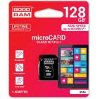 Κάρτα μνήμης Goodram 128GB Micro SD CL10 UHS I with Adapter